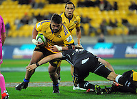Chris Eves in action during the Super Rugby match between the Hurricanes and Sharks at Westpac Stadium, Wellington, New Zealand on Saturday, 9 May 2015. Photo: Dave Lintott / lintottphoto.co.nz