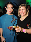 Caitie Sellers and Rena Wood at Martini Madness at the Center for Contemporary Craft Thursday Jan. 22,2015.(Dave Rossman For the Chronicle)