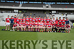 Cork players before the Munster Minor Football Final between Kerry and Cork at Pairc Ui Chaoimh, Cork on Saturday night.