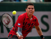 France, Paris, 01.06.2014. Tennis, French Open,Roland Garros,  Milos Raonic (CAN)  <br /> Photo:Tennisimages/Henk Koster
