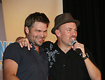 Daniel Cosgrove and stage manager, Adam Reist -  So Long Springfield event brought out Guiding Light Actors as they  came to see fans at the Hyatt Regency in Pittsburgh, PA. for Q & A, acting scenes between actors and fans, and entertainment (singing) by GL finest during the weekend of October 24 and 25, 2009. (Photo by Sue Coflin/Max Photos)