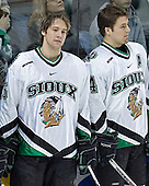 Travis Zajac, Chris Porter - The University of Minnesota Golden Gophers defeated the University of North Dakota Fighting Sioux 4-3 on Friday, December 9, 2005, at Ralph Engelstad Arena in Grand Forks, North Dakota.