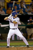 Florida's Bryson Smith against UCLA in Game 2 of the NCAA Division One Men's College World Series on Saturday June 19th, 2010 at Johnny Rosenblatt Stadium in Omaha, Nebraska.  (Photo by Andrew Woolley / Four Seam Images)