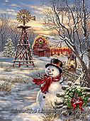 Dona Gelsinger, CHRISTMAS SANTA, SNOWMAN, WEIHNACHTSMÄNNER, SCHNEEMÄNNER, PAPÁ NOEL, MUÑECOS DE NIEVE, paintings+++++,USGE1841,#x#