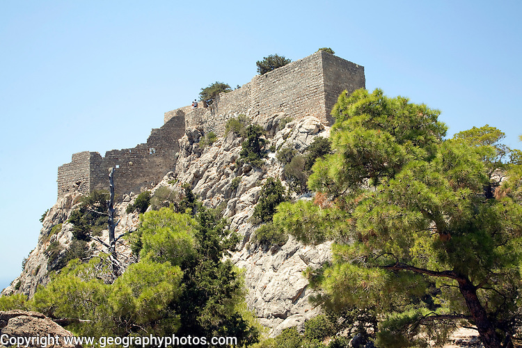 Castle walls, Kastrou Monolithos, Rhodes, Greece