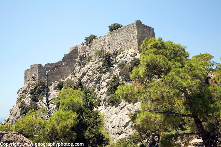 Castle walls, Kastrou Monolithos, Rhodes, Greece
