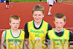 Competing at the Kerry Athletic Championships in Castleisland on Sunday was l-r: Daniel O'Leary, Aidan O'Sullivan and Mel O'Callaghan Gneeveguilla   Copyright Kerry's Eye 2008