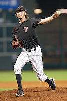 Texas Tech Red Raiders relief pitcher Jonny Drozd #30 delivers a pitch to the plate against the Rice Owls at Minute Maid Park on March 2, 2014 in Houston, Texas.  The Red Raiders defeated the Owls 3-2 to finish the tournament 2-1.  (Brian Westerholt/Four Seam Images)