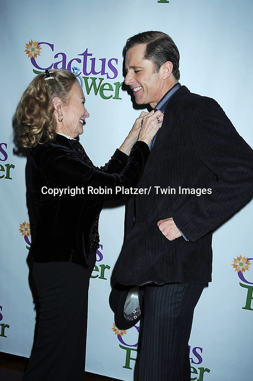 "Juliet Mills and husband Maxwell Caulfield attending the Opening night party for .""Cactus Flower"" on March 10, 2011 at B Smith's Restaurant. The show stars Lois Robbins, Maxwell Caulfield and Jenni Barber."