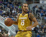 California Baptist guard Jordan Heading (15) against Nevada in the second half of an NCAA college basketball game in Reno, Nev., Monday, Nov. 19, 2018. (AP Photo/Tom R. Smedes)