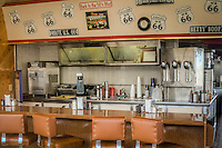 Route 66 Diner in Williams Arizona. Goldie's Route 66 diner was the original Denny's in Williams from the sixties.