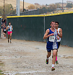 McQueen's Henry Weisberg (324) leads the boys 4A 5k during the Northern Nevada Regional Cross Country meet at Shadow Mountain Park on Friday, October 28, 2016.