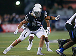 Nevada's Brock Hekking (53) competes against Boise State during the second half of an NCAA college football game in Reno, Nev., on Saturday, Oct. 4, 2014. Boise State won 51-46. (AP Photo/Cathleen Allison)