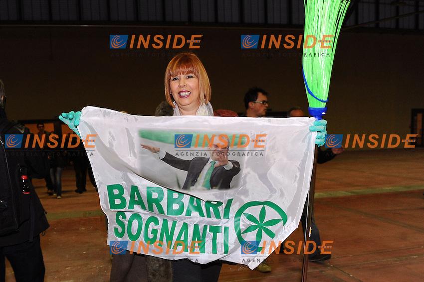 """Lega Nord Bergamo 10/04/2012 - manifestazione """"orgoglio Padano"""" .nella foto: manifestanti Lega Nord"""