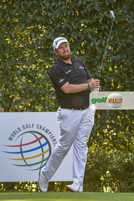Shane Lowry (IRL) watches his tee shot on 5 during round 1 of the World Golf Championships, Mexico, Club De Golf Chapultepec, Mexico City, Mexico. 2/21/2019.<br /> Picture: Golffile | Ken Murray<br /> <br /> <br /> All photo usage must carry mandatory copyright credit (© Golffile | Ken Murray)