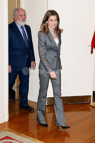 Princess Letizia of Spain attends the Antena 3 Foundation meeting. December 03, 2012. Credit: ALTERPHOTOS/Caro Marin/NortePhoto/MediaPunch Inc. ***FOR USA ONLY***