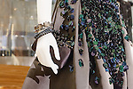 Florence Green dress detail at the Catherine Martin and Muccia Prada Dress Gatsby display at Prada store in SOHO, NYC May 4, 2013.