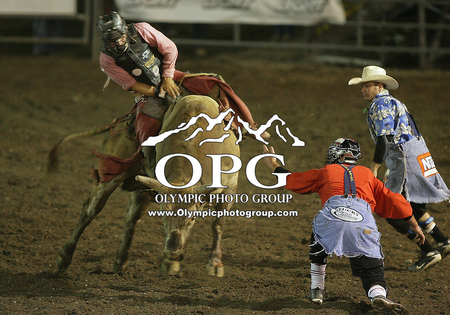 25 Aug 2010:  Tag Elliott scored a 84 in the Bull Riding competition riding the bull Cowboy Caviar at the Kitsap County Stampede Wrangle Million Dollar PRCA Silver Rodeo Tour Bremerton, Washington.