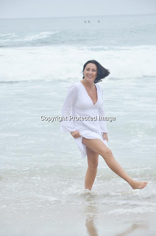 Mature Single Woman at Beach