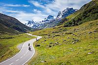 Austria, Tyrol, in Paznaun Valley: Toll-Road 'Silvretta-Hochalpenstrasse' | Oesterreich, Tirol, im hinteren Paznauntal an der Grenze zu Vorarlberg: die mautpflichtige Silvretta-Hochalpenstrasse
