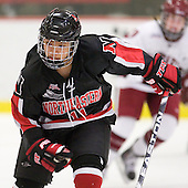 Rachel Llanes (NU - 11) - The Harvard University Crimson defeated the Northeastern University Huskies 1-0 to win the 2010 Beanpot on Tuesday, February 9, 2010, at the Bright Hockey Center in Cambridge, Massachusetts.
