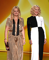 LOS ANGELES - SEPTEMBER 22: Amy Poehler and Catherine O'Hara onstage at the 71st Primetime Emmy Awards at the Microsoft Theatre on September 22, 2019 in Los Angeles, California. (Photo by Frank Micelotta/Fox/PictureGroup)