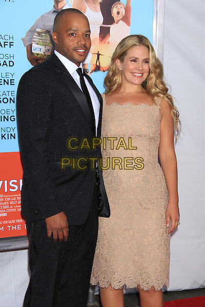 NEW YORK, NY - JULY 14: Donald Faison and wife CaCee Cobb attends the New York Premiere of &quot;Wish I Was Here&quot; at the AMC Loews Lincoln Square Cinemas on July 14, 2014 in New York City<br /> CAP/LNC/TOM<br /> &copy;LNC/Capital Pictures