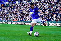 4th January 2020; St Andrews, Birmingham, Midlands, England; English FA Cup Football, Birmingham City versus Blackburn Rovers; Jefferson Montero of Birmingham City prepares to cross the ball into the box - Strictly Editorial Use Only. No use with unauthorized audio, video, data, fixture lists, club/league logos or 'live' services. Online in-match use limited to 120 images, no video emulation. No use in betting, games or single club/league/player publications