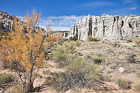 Plaza Blanca, an area near the village of Abiquiu, New Mexico, is also known as the White Place and was one of the landscapes that inspired painter Georgia O'Keefe.