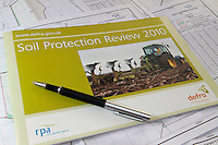RPA soil protection review booklet surrounded by farm maps