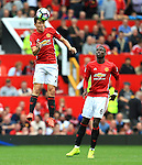 Ander Herrera of Manchester United wins a header during the Premier League match at Old Trafford Stadium, Manchester. Picture date: September 24th, 2016. Pic Sportimage