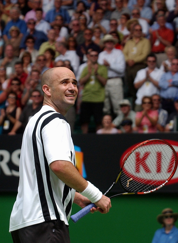 Australian Open Tennis 2003.26/01/2003.Andre Agassi v Rainer Schuettler Final.Andre Agassi