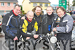 ..Paul O'Sullivan, Louis Leahy, Mossie Leahy, Colin Leahy and Tomas O'Sullivan  at the annual childrens motorbike toy run at Doyle's shop  Killarney on Sunday ..