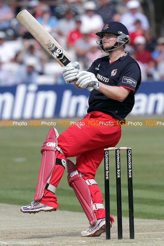 Karl Brown scores four runs for Lancashire - Essex Eagles vs Lancashire Lightning - Clydesdale Bank 40 Cricket at the Ford County Ground, Chelmsford - 02/05/11 - MANDATORY CREDIT: Gavin Ellis/TGSPHOTO - Self billing applies where appropriate - Tel: 0845 094 6026