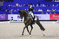 OMAHA, NEBRASKA - APR 1: Kristy Oatley rides Du Soleil during the FEI World Cup Dressage Final II at the CenturyLink Center on April 1, 2017 in Omaha, Nebraska. (Photo by Taylor Pence/Eclipse Sportswire/Getty Images)