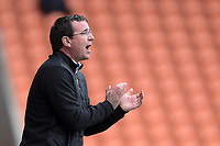 Blackpool manager Gary Bowyer gestures to his team<br /> <br /> Photographer Terry Donnelly/CameraSport<br /> <br /> The EFL Sky Bet League Two - Blackpool v Accrington Stanley - Friday 14th April 2017 - Bloomfield Road - Blackpool<br /> <br /> World Copyright &copy; 2017 CameraSport. All rights reserved. 43 Linden Ave. Countesthorpe. Leicester. England. LE8 5PG - Tel: +44 (0) 116 277 4147 - admin@camerasport.com - www.camerasport.com
