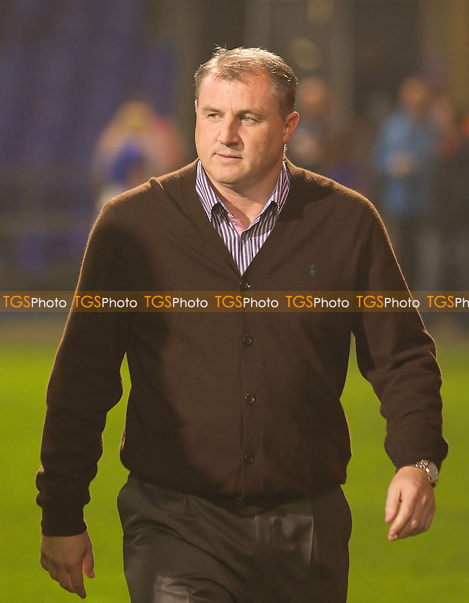Paul Jewell, manager of Ipswich Town saw his side go down following a late strike from Derby County - Ipswich Town vs Derby County - NPower Championship Football at Portman Road, Ipswich, Suffolk - 23/10/12 - MANDATORY CREDIT: Ray Lawrence/TGSPHOTO - Self billing applies where appropriate - 0845 094 6026 - contact@tgsphoto.co.uk - NO UNPAID USE.