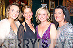 GLAM SLAM: Adding a touch of glam to the Tralee Rugby Club annual dress dance in Ballyseedy Castle last Saturday night were l-r: Lorraine Scroop, Audrey Lane, Julianne Reen and Carol Benner.