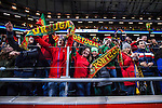 Solna 2014-11-19 Fotboll VM-kval Playoff , Sverige - Portugal :  <br /> Portugal supportrar<br /> (Photo: Kenta J&ouml;nsson) Keywords:  Sweden Portugal glad gl&auml;dje lycka leende ler le jubel gl&auml;dje lycka glad happy supporter fans publik supporters