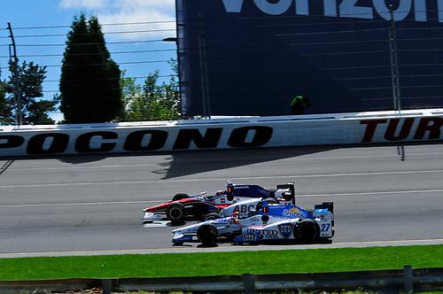20-21 August, 2016, Long Pond, Pennsylvania USA<br /> Marco Andretti and Takuma Sato<br /> ©2016, Gregg Feistman<br /> LAT Photo USA