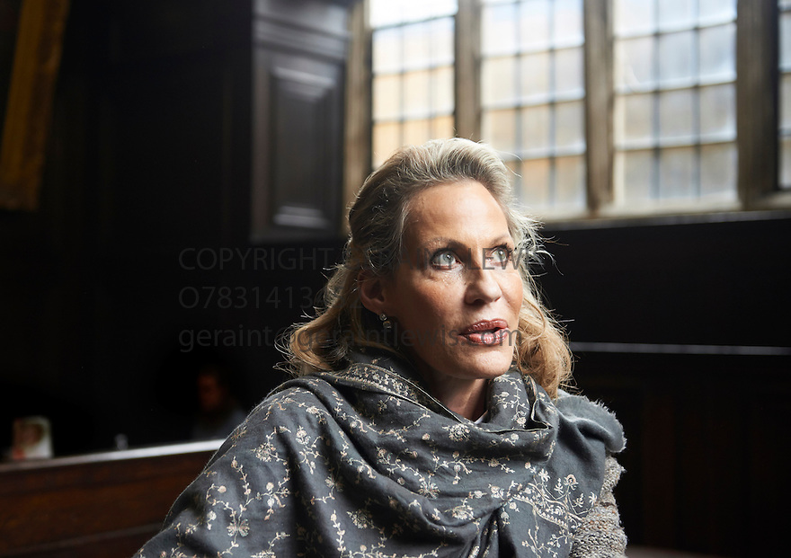 Leonie Frieda Historian and Biographer and  writer  at Bodleian Convocation House  at The Oxford  Literary Festival   2013. Credit Geraint Lewis