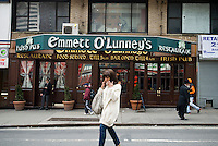 Emmett O'Lunney's Irish Pub in Midtown in New York is seen on Thursday, March 4, 2010. In advance for St. Patrick's Day. (© Richard B. Levine)