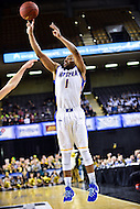 Baltimore, MD - Hofstra Pride guard Juan'ya Green (1) connects on a three pointer during game against William & Mary Tribe at the CAA Basketball Tournament at the Royal Farms Arena in Baltimore, Maryland on March 6, 2016.  (Photo by Philip Peters/Media Images International)