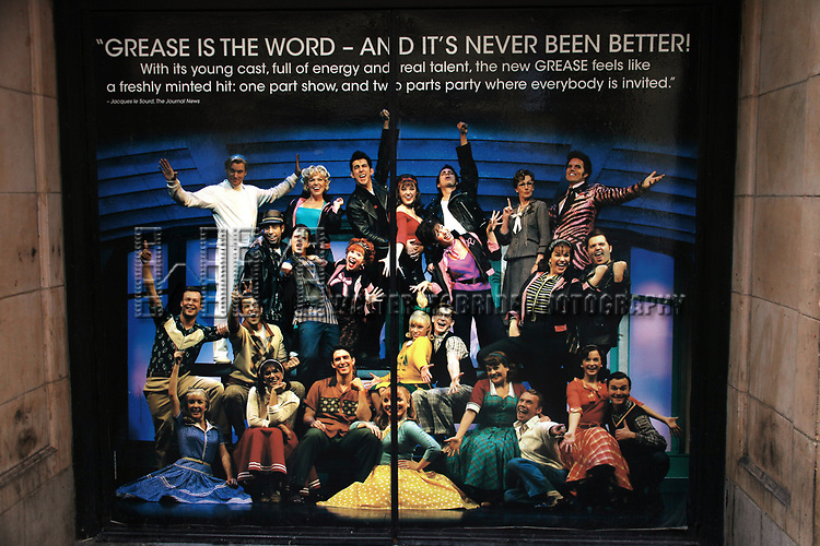 """Atmosphere at GREASE playing at the Brooks Atkinson Theatre during<br />""""Black Sunday on Broadway"""" with nine productions closing all on the same Sunday afternoon.<br />January 4, 2009"""
