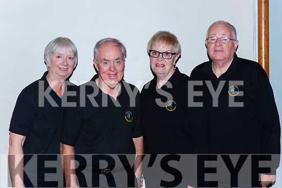 The Beaufort Elves team that played in the National Bowls finals in the INEC on Wednesday l-r:Lesley and Jim Dunne with Ann and Donie Clifford