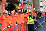Dutch fans delighted with New World Champion Annemiek van Vleuten (NED) at the end of the Women Elite Road Race of the UCI World Championships 2019 running 149.4km from Bradford to Harrogate, England. 28th September 2019.<br /> Picture: Andy Brady | Cyclefile<br /> <br /> All photos usage must carry mandatory copyright credit (© Cyclefile | Andy Brady)