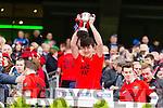 Jack Brosnan Glenbeigh Glencar players celebrate their victory over Rock Saint Patricks in the Junior Football All Ireland Final in Croke Park on Sunday.