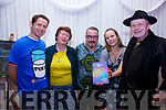 Pictured at the 'First Fortnight' Poetry and Comedy Night part of the European Mental Health Arts & Culture Festival in the Ring of Kerry Hotel, Cahersiveen on Friday were l-r; Sean Sugrue, Lucy Henehan , Sean O'Leary, Holly Woollett & Seamus Collins.