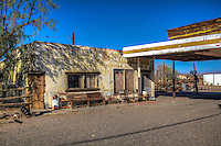 Ruins of Dry Creek Station  a Whiting Brothers gas station in Newberry Springs California on Route 66.