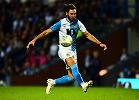 Blackburn Rovers' Ben Brereton in action<br /> <br /> Photographer Richard Martin-Roberts/CameraSport<br /> <br /> The Carabao Cup First Round - Tuesday 13th August 2019 - Blackburn Rovers v Oldham Athletic - Ewood Park - Blackburn<br />  <br /> World Copyright © 2019 CameraSport. All rights reserved. 43 Linden Ave. Countesthorpe. Leicester. England. LE8 5PG - Tel: +44 (0) 116 277 4147 - admin@camerasport.com - www.camerasport.com